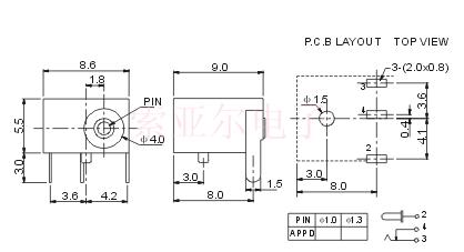 产品名称: dc006 产品型号: dc-001c 产品类别: dc电源插座 &nbsp